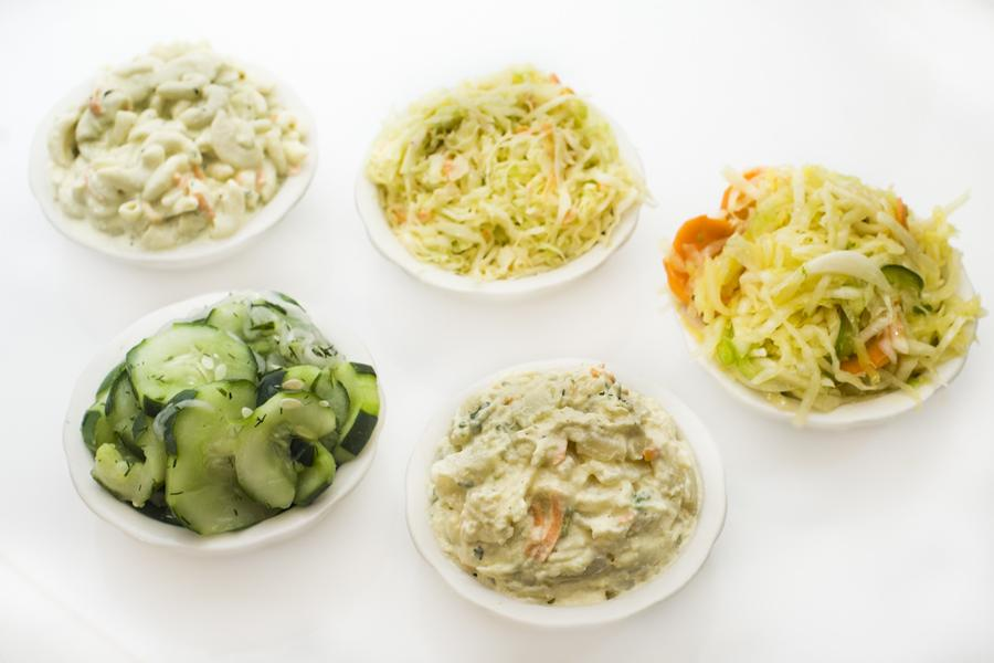 Classic Salads (Potato Salad, Cole Slaw, Health Salad, Macaroni Salad & Cucumber Salad)