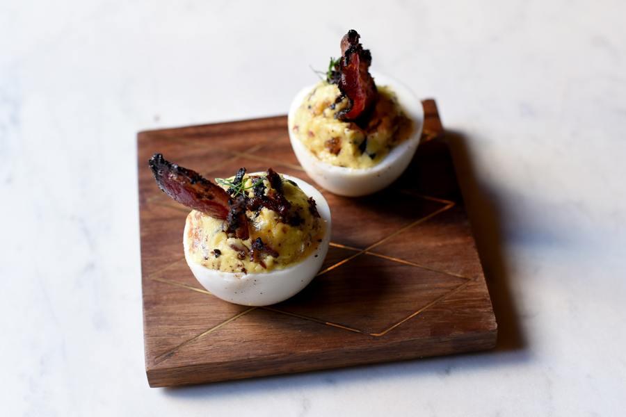 Pastrami Deviled Eggs